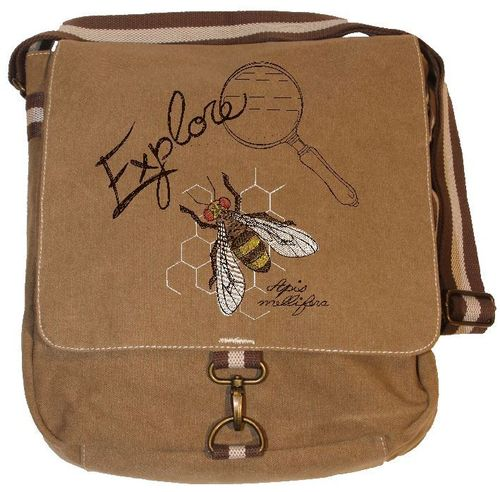 Vintage Canvas Messenger Tasche - Biene Explorer 1