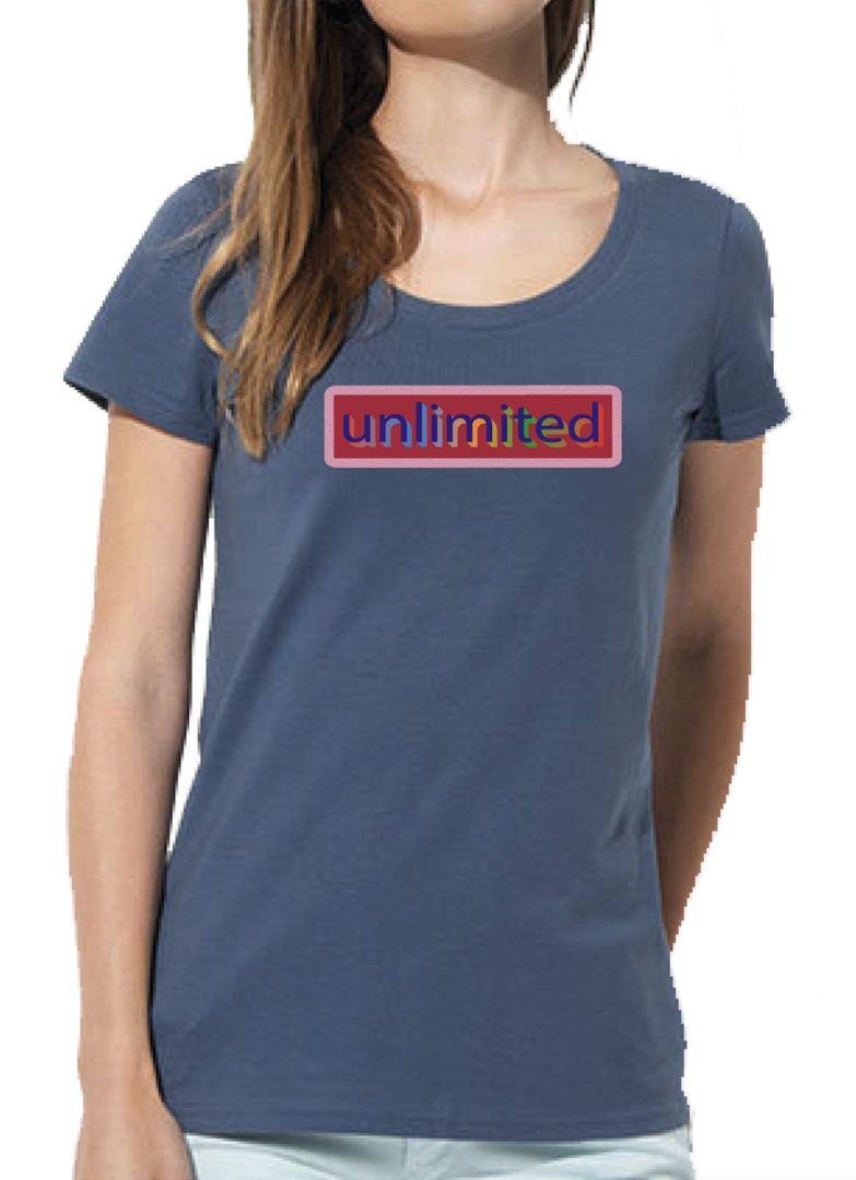 """unlimited"" Ladies Organic T-Shirt in 4 Farben"