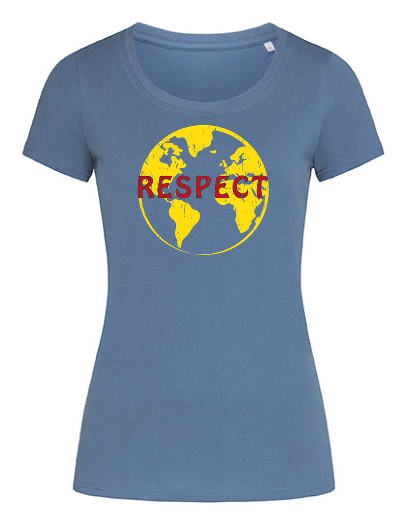 """Respect the earth"" Organic T-Shirt in 4 Farben"