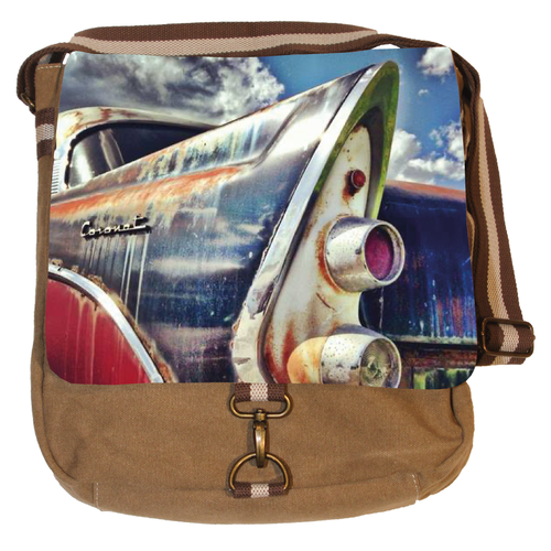 Vintage Canvas Messenger Tasche - Old Mobile
